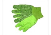 10 oz Hi-Viz Green PVC Dotted Gloves