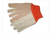 PVC Grip gloves, High Visibility Work Gloves, Lightweight Cotton Gloves