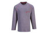 Portwest FR01 Grey Crew FR Long Sleeve Shirt