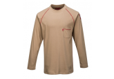Portwest FR01 Khaki Crew FR Long Sleeve Shirt