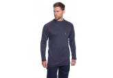 Portwest FR01 Navy Crew FR Long Sleeve Shir