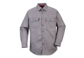 Portwest FR89 Grey Flame Resistant Button Down Shirt