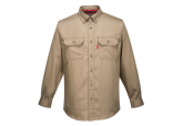 Portwest FR89 Khaki Flame Resistant Button Down Shirt