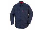 Portwest FR89 Navy Flame Resistant Button Down Shirt