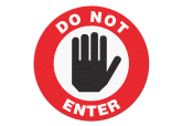 "Anti Slip ""DO NOT ENTER"" Floor Sign--17"""