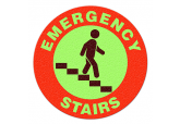 "Glow in the Dark ""EMERGENCY STAIRS"" Floor Sign"