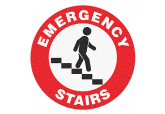 "Anti Slip ""EMERGENCY STAIRS"" Floor Sign--17"""