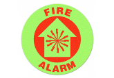 "Glow in the Dark ""FIRE ALARM"" Floor Sign"
