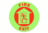 "Glow in the Dark ""FIRE EXIT"" Floor Sign"