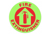 "Glow in the Dark ""FIRE EXTINGUISHER"" Floor Sign"