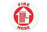 "Anti Slip ""FIRE HOSE"" Floor Sign--17"""