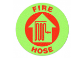 "Glow in the Dark ""FIRE HOSE"" Floor Sign"