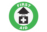 "Anti Slip ""FIRST AID"" Floor Sign--17"""