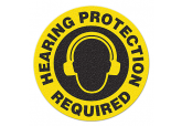 "Anti Slip ""HEARING PROTECTION REQUIRED"" Floor Sign--17"""