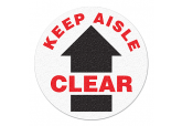 "Anti Slip ""KEEP AISLE CLEAR"" Floor Sign--17"""
