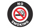 "Anti Slip ""NO SMOKING"" Floor Sign--17"""