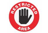 "Anti Slip ""RESTRICTED AREA"" Floor Sign--17"""
