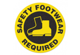 "Anti Slip ""SAFETY FOOTWEAR REQUIRED"" Floor Sign--17"""