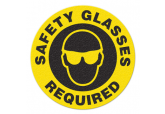 "Anti Slip ""SAFETY GLASSES REQUIRED"" Floor Sign--17"""