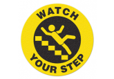 "Anti Slip ""WATCH YOUR STEP"" Floor Sign--17"""