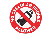 "Anti Slip ""NO CELL PHONES ALLOWED"" Floor Sign--17"