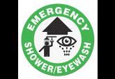 "Anti Slip ""EMERGENCY SHOWER & EYEWASH"" Floor Sign--17"""