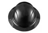 DAX Matte Black Fiber Resin Full Brim Hard Hat HDF-15KG