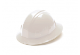 Pyramex Full Brim White Hard Hat with Ratchet Suspension 26110