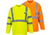 Hi-Visibility Class 2 Long Sleeve Pocket T-Shirt Portwest S191