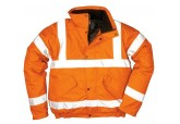 Hi Viz Orange Thermal Bomber Jacket Portwest URT32