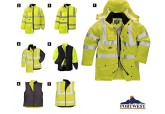 Portwest US427 Waterproof Hi Vis Versatile 7-in-1 Traffic Jacket