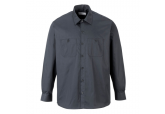 Portwest S125 Charcoal Gray Long Sleeve Work Shirts
