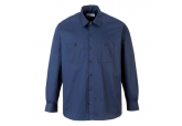 Portwest S125 Navy Blue Long Sleeve Work Shirts