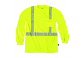 High Visibility Moisture wicking T-Shirt by Occunomix. Occunomix TLSP2B is a soft moisture wicking Long sleeve Tshirt that helps keep the wearer cool and at the same time offering UPS 25 Protection. This is a lightweight 3.8 oz Birdseye fabric that is sof