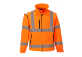 Portwest US428 Hi Visibility Orange Softshell Jacket